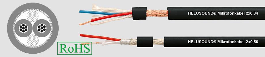 Przewód mikrofonowy 2 X 0,34, 2 X 0,50