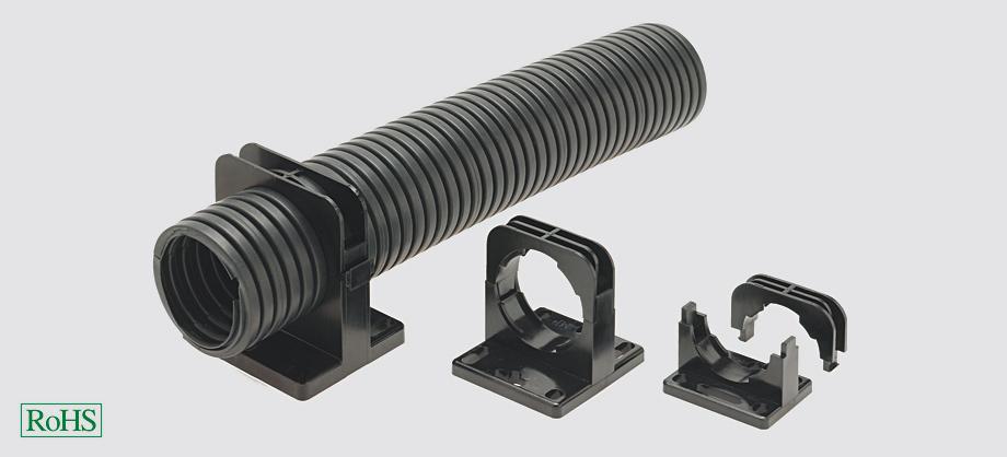USH-T Uchwyt rurowy RAL 9005 odporny na UV