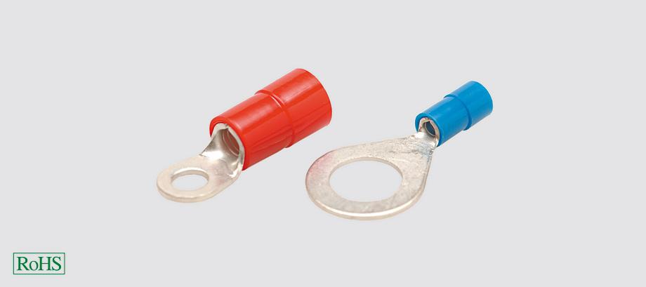 Końcówki kablowe izolowane oczkowe