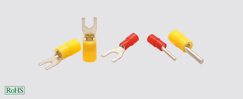 Końcówki kablowe izolowane widełkowe