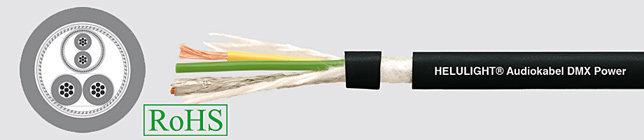 HELUSOUND DMX 1X2x0,24+2x1 Przewód audio czarny