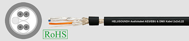 HELUSOUND DMX 2x2x0,22 Przewód audio czarny